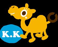ロゴマークのラクダ